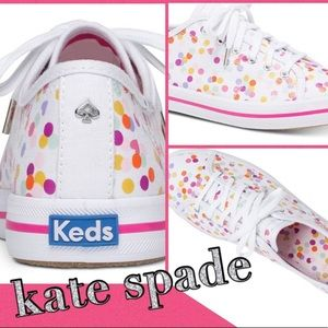 Kate Spade Keds White Kickstart Confetti Shoes